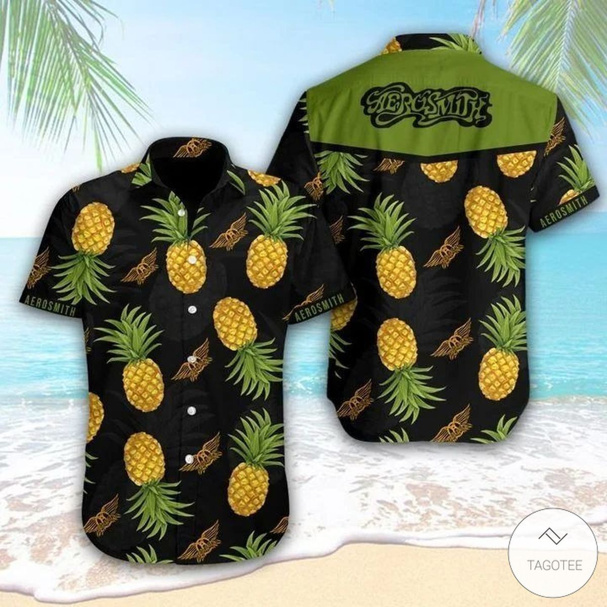 Aerosmith Pineapple Hawaiian Shirt