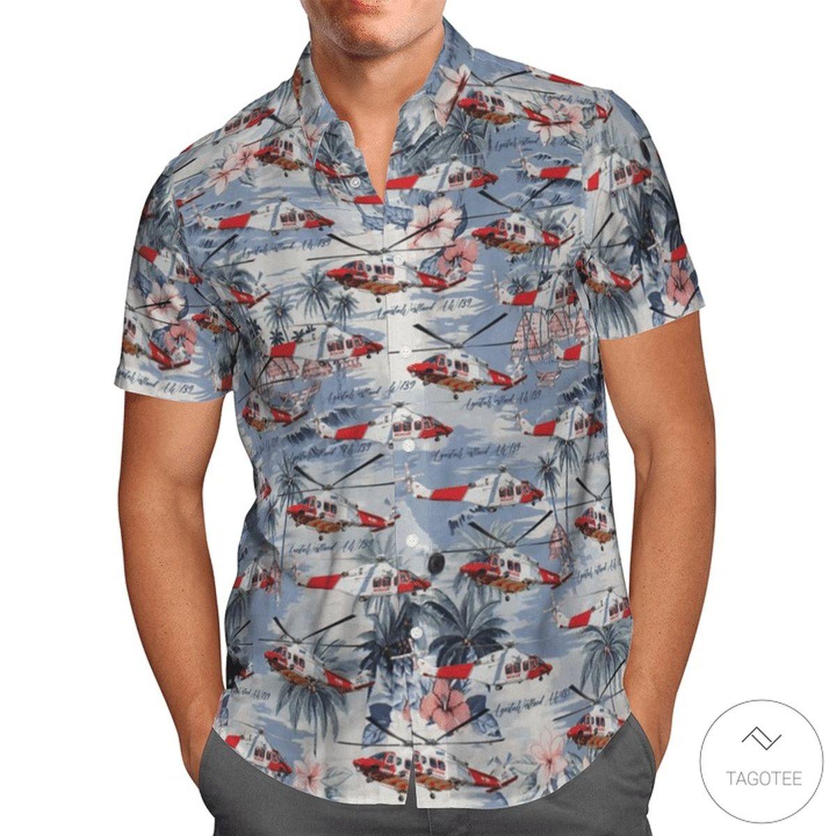 Agustawestland AW139 Royal Australian Air Force Hawaiian Shirt, Beach Shorts z