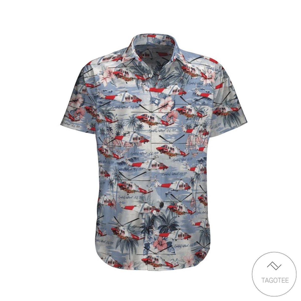 Agustawestland AW139 Royal Australian Air Force Hawaiian Shirt, Beach Shorts