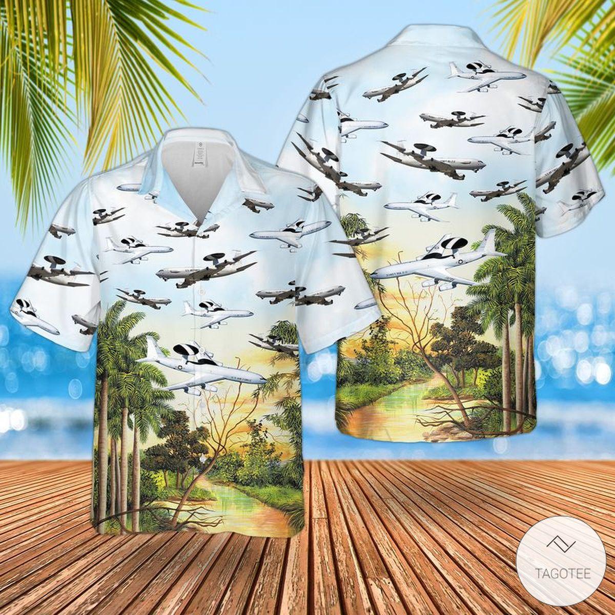 Air Force Boeing E-3 Sentry Hawaiian Shirt, Beach Shorts