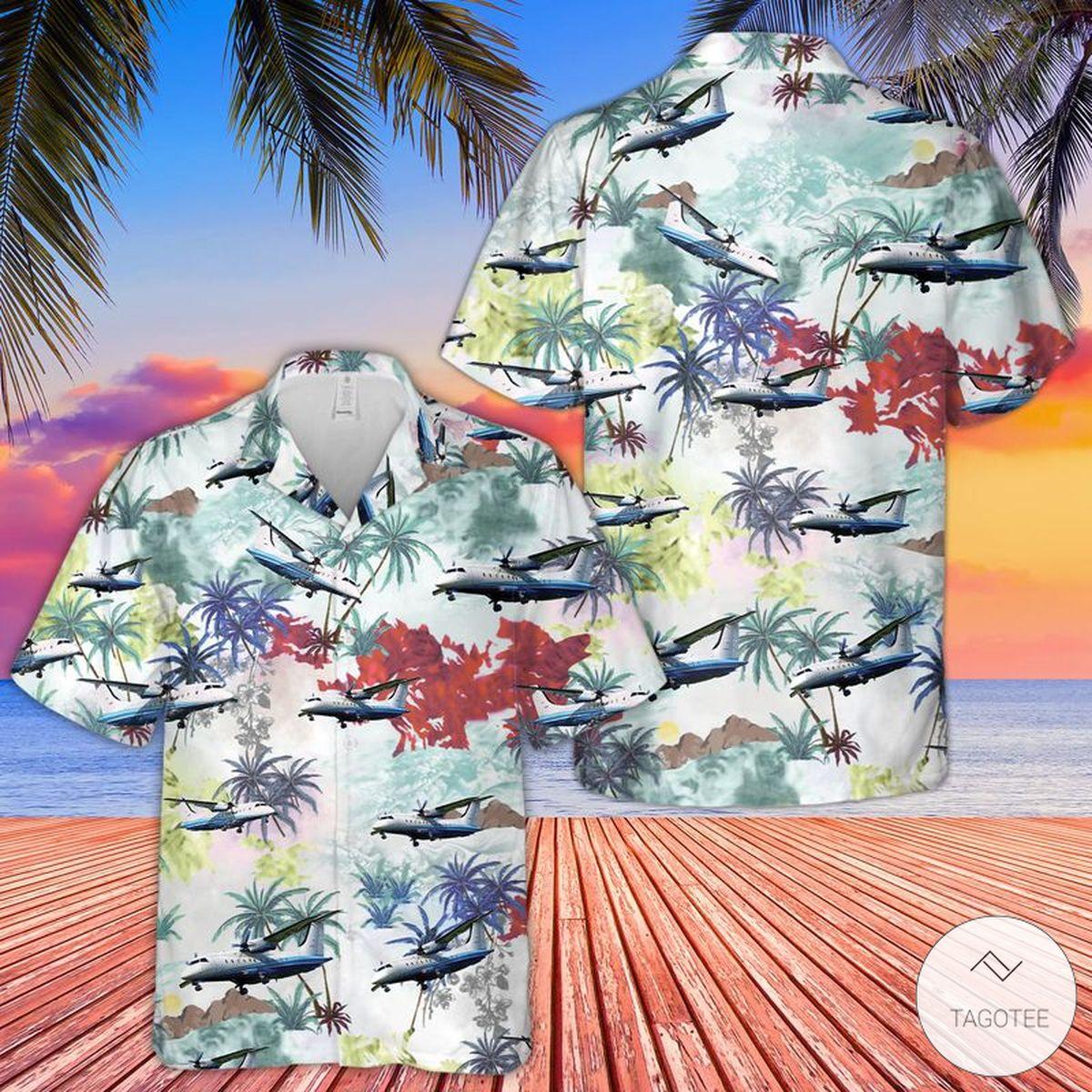 Air Force C-146A Wolfhound Hawaiian Shirt, Beach Shorts