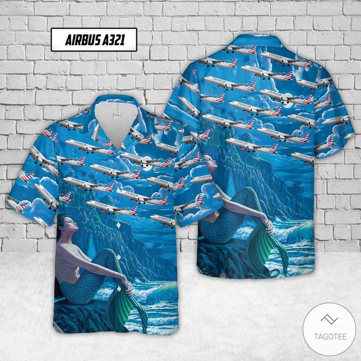 Airbus A321 American Airlines Hawaiian Shirt