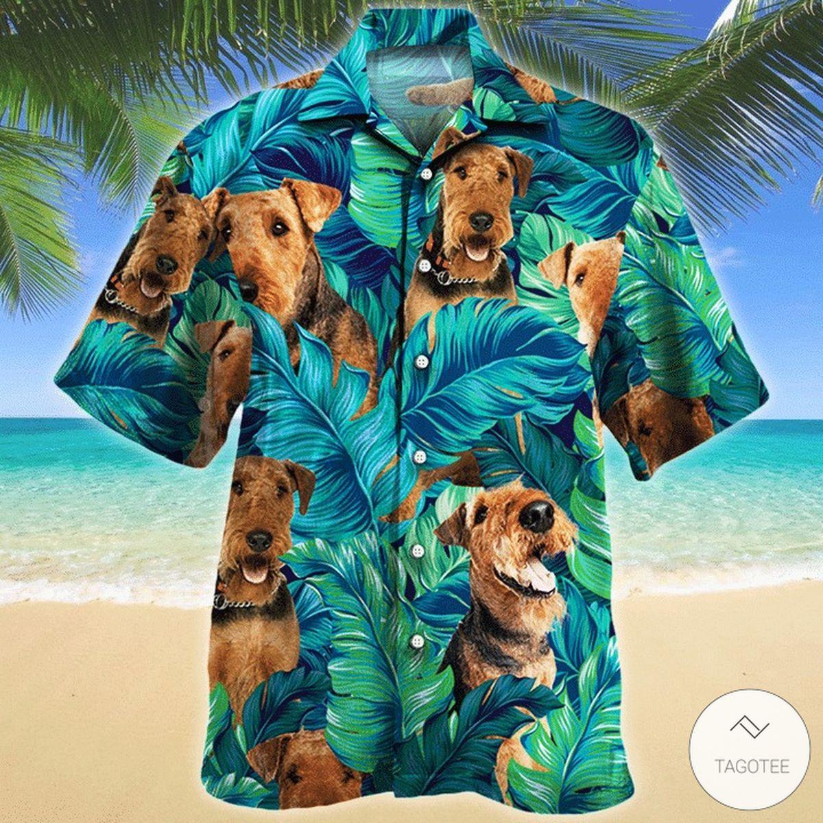 Airedale Mountain Dog Hawaiian Shirt
