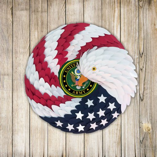 American Eagle Wreath Handmade US Army, US Navy, Us Airforce, Us Marine Corp Christmas Veteran Handmade Wreath features a red, white, and blue – Home decor