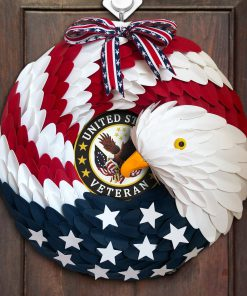American Eagle Wreath Handmade With Custom Logo 2