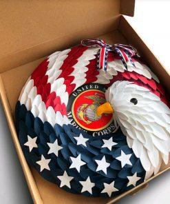 American Eagle Wreath Handmade With Custom Logo