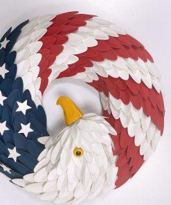 American Eagle Wreath Handmade With Custom Logo New