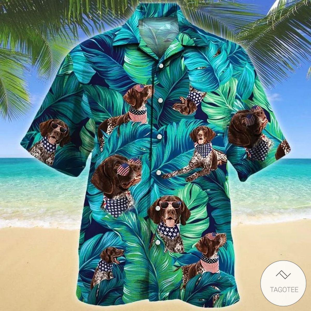 American Style German Shorthaired Pointer Dog Hawaiian Shirt