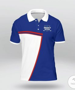 And Then God Said Let There Be Sexy People So He Made Hockey Player Polo Shirt z
