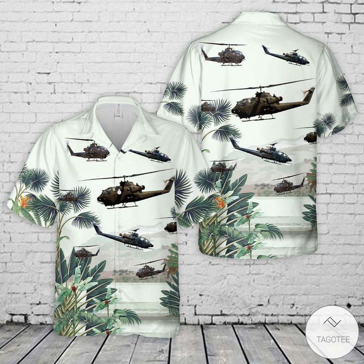 Army AH-1F Cobra Hawaiian Shirt, Beach Shorts