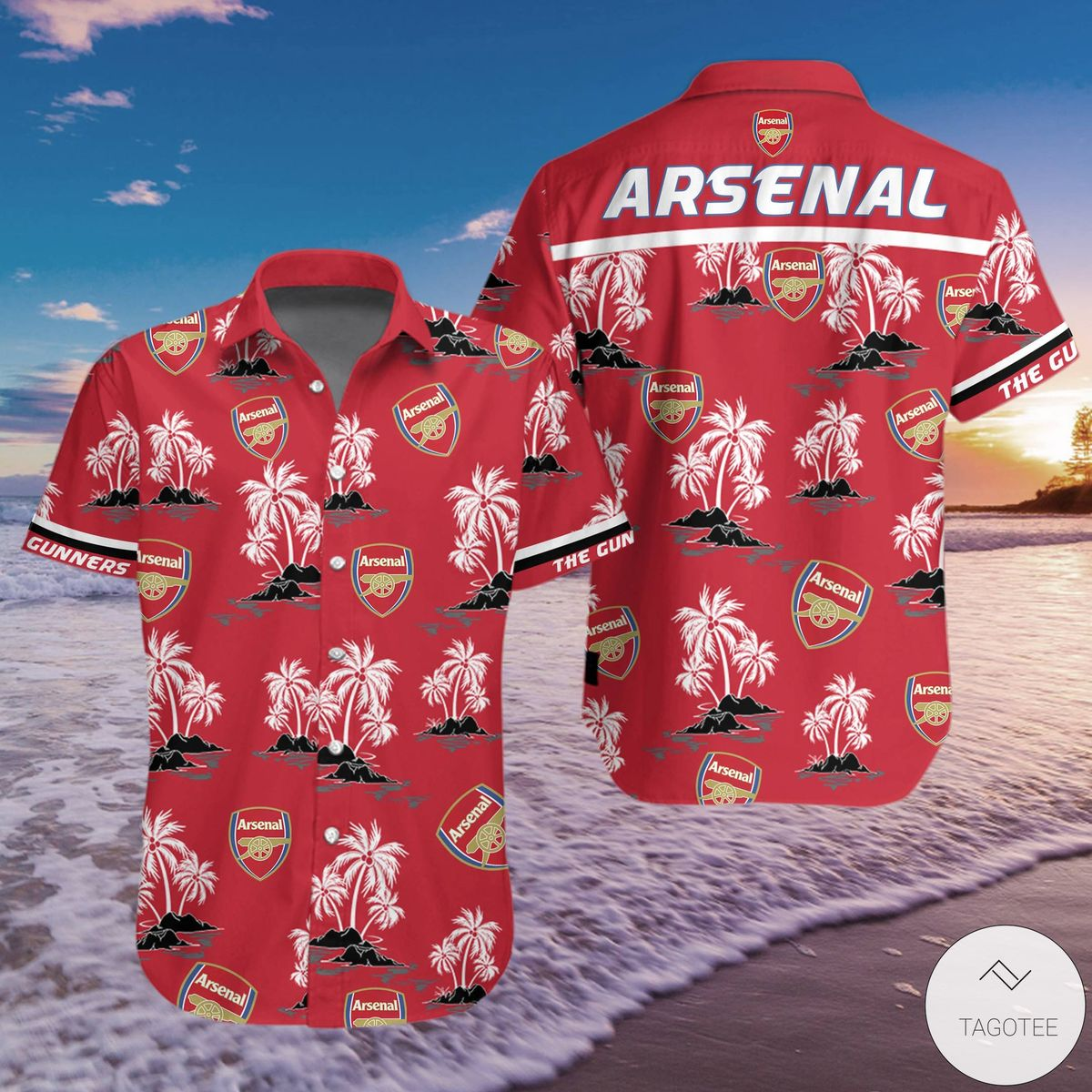 Arsenal F.C Hawaiian Shirt