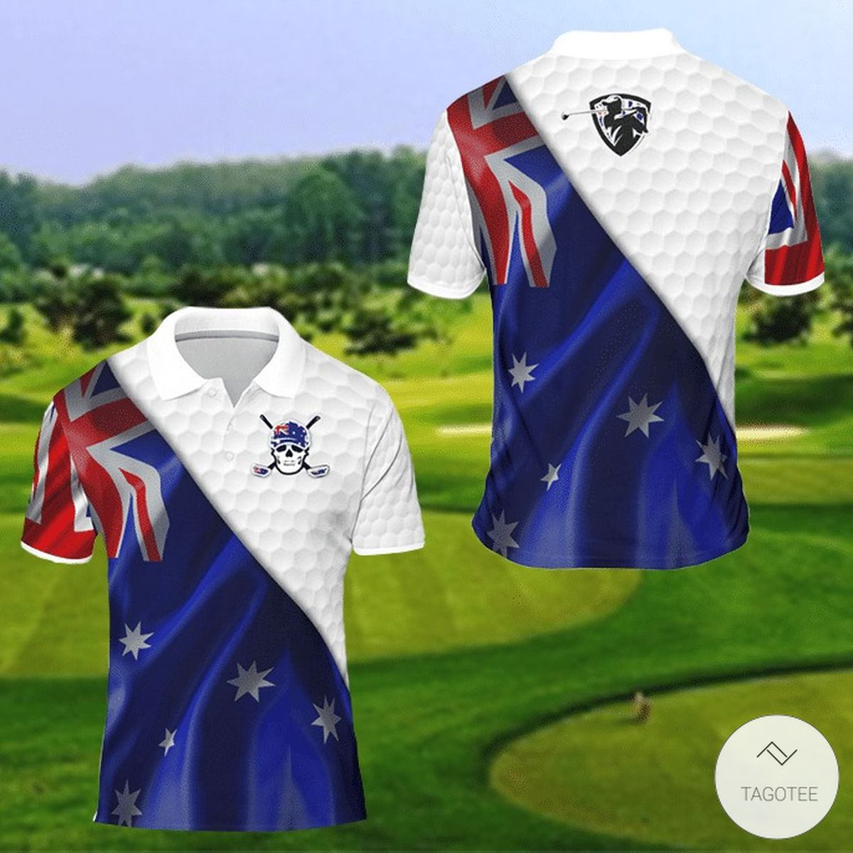 Australia Flag Golf 3D Polo Shirt