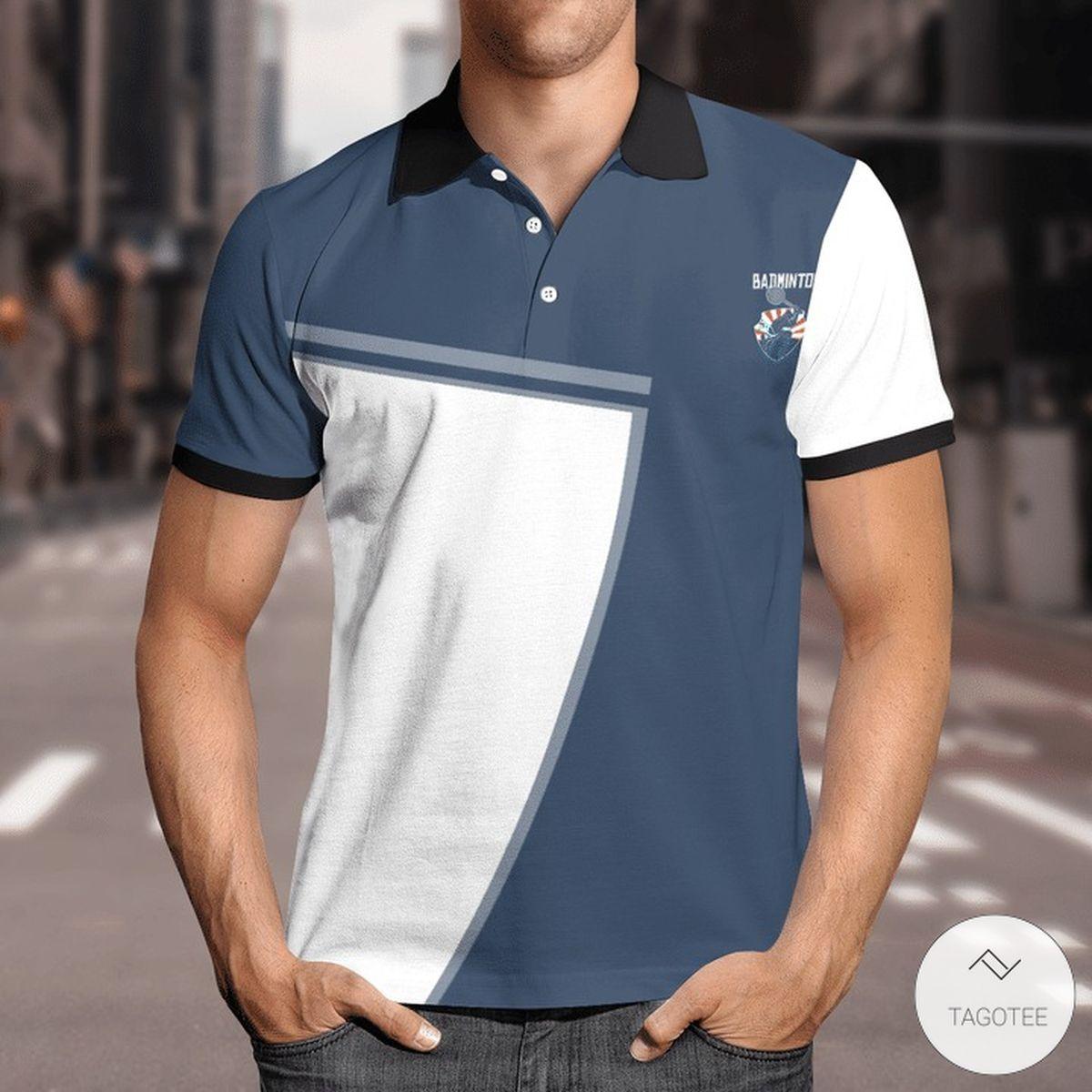 Badminton Racket Scientist Polo Shirt