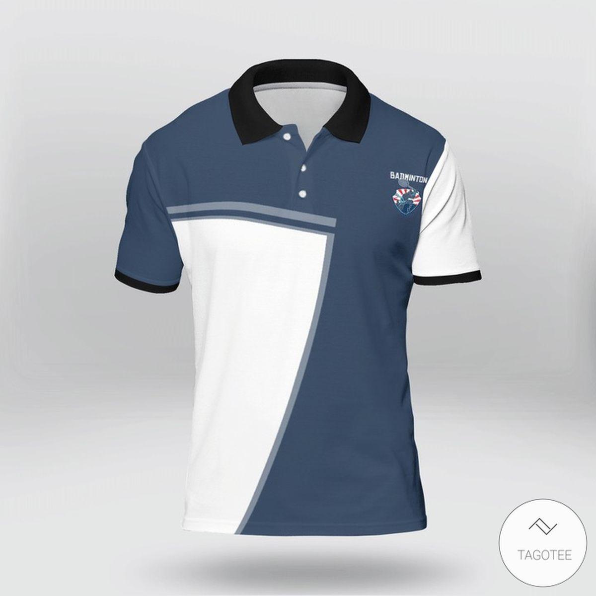 Badminton Racket Scientist Polo Shirtz