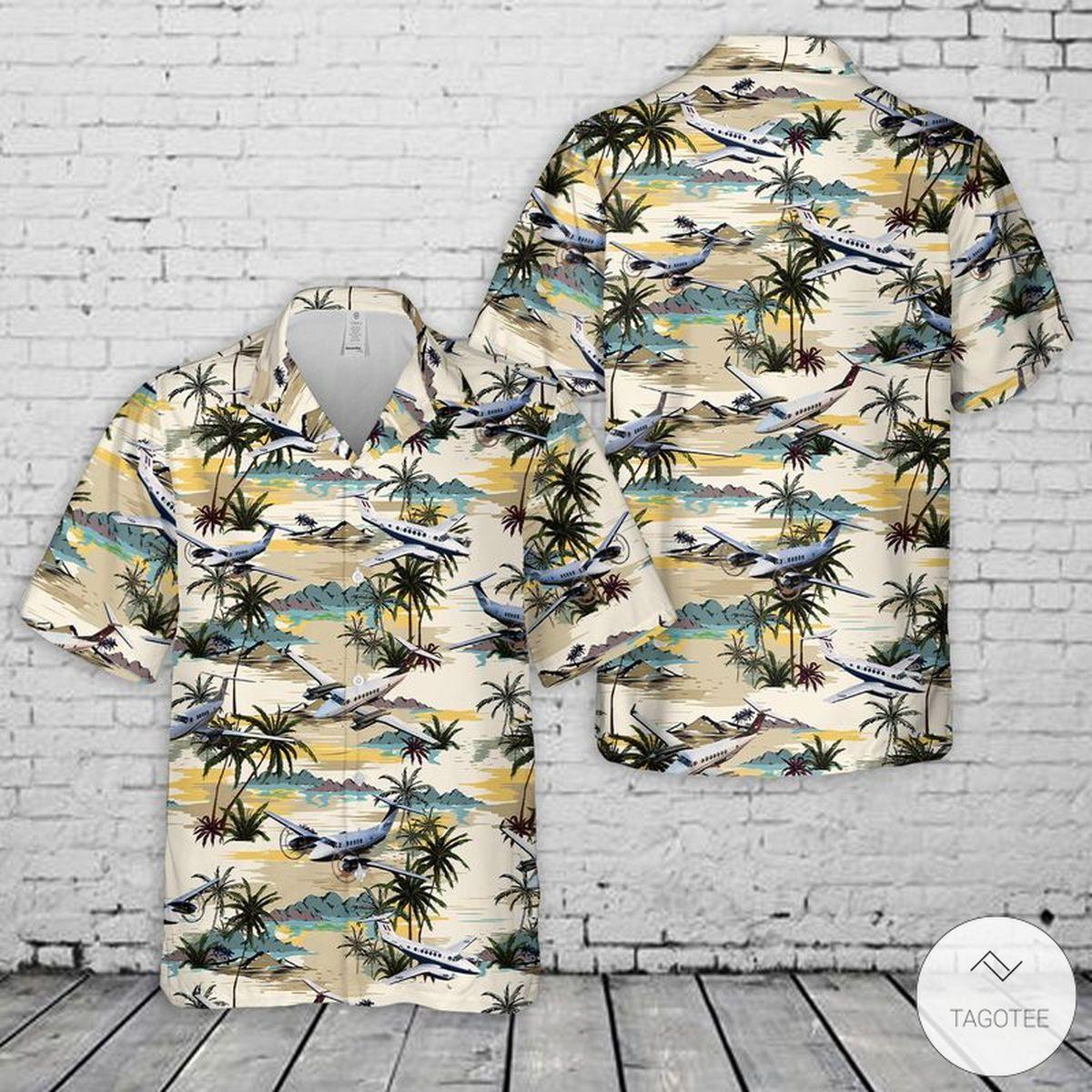 Beechcraft Super King Air Hawaiian Shirt, Beach Shorts