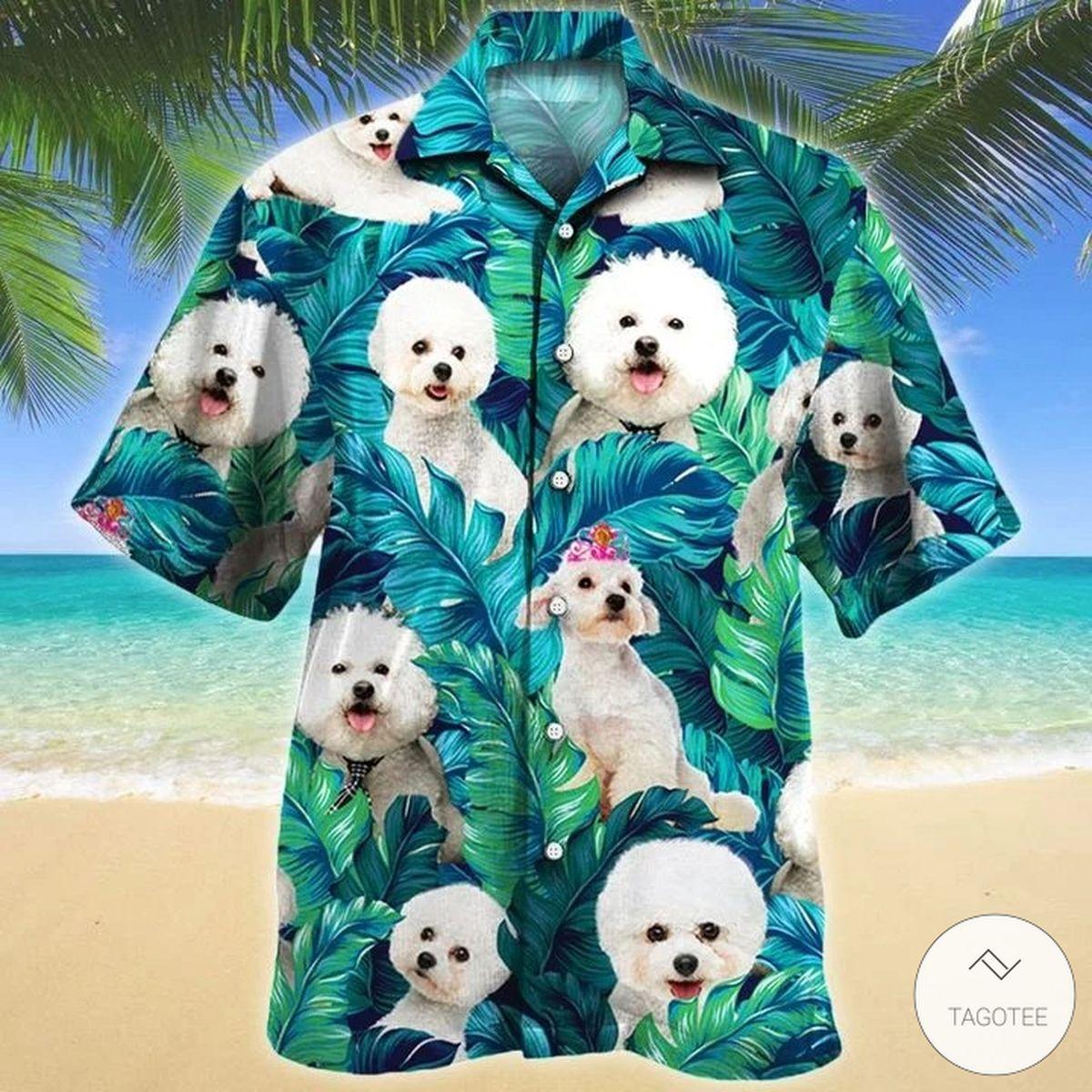 Bichon Frise Dog Hawaiian Shirt