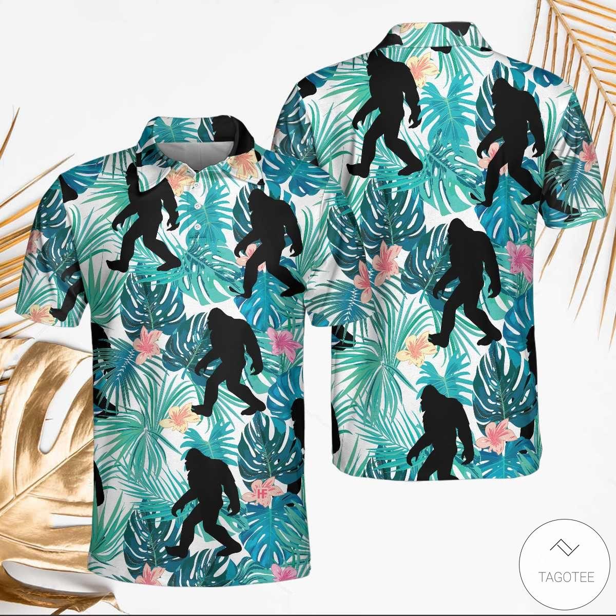 Bigfoot Tropical Polo Shirt