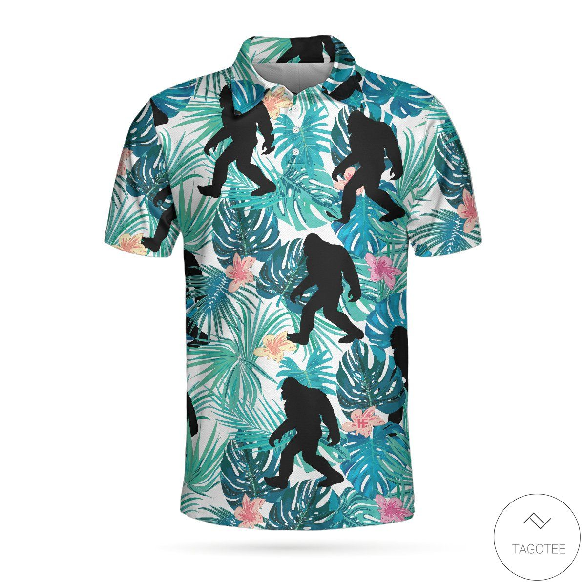 Bigfoot Tropical Polo Shirtz