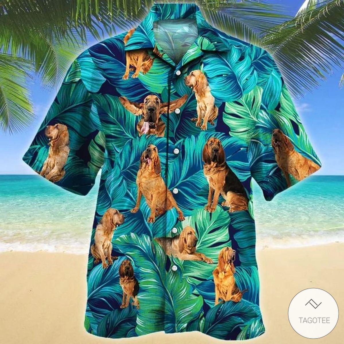 Bloodhound Dog Hawaiian Shirt