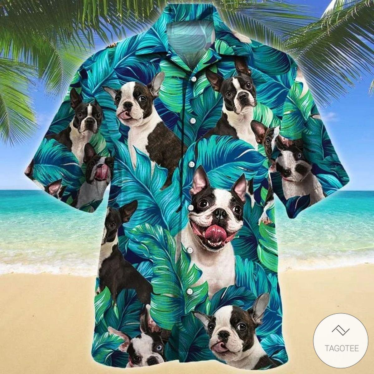 Boston Terrier Dog Hawaiian Shirt