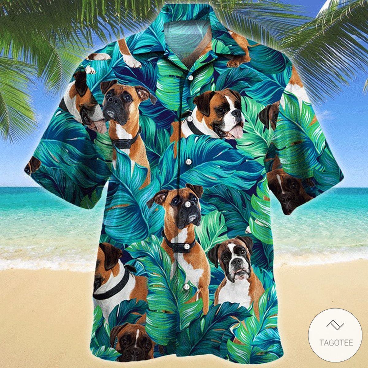 Boxer Dog Hawaiian Shirt