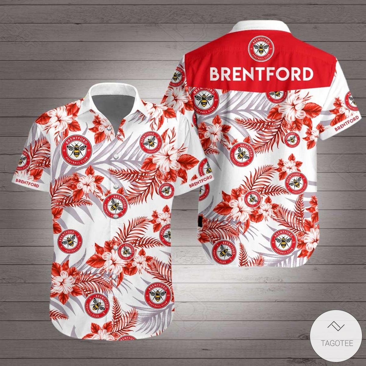Brentford F.C Hawaiian Shirt