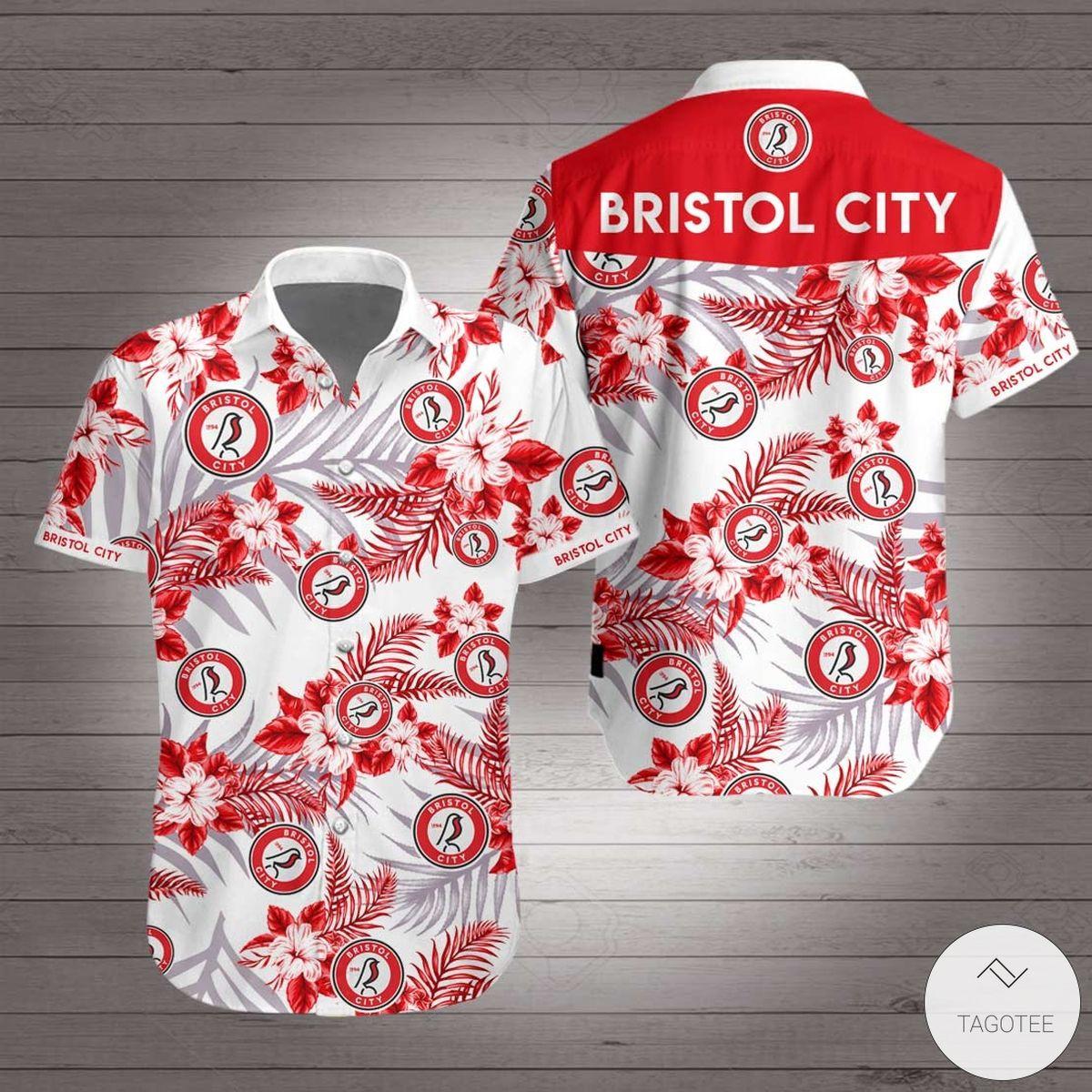 Bristol City F.C Hawaiian Shirt