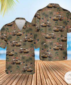 British Army Challenger 2 Combat Vehicle Hawaiian Shirt, Beach Shortsx