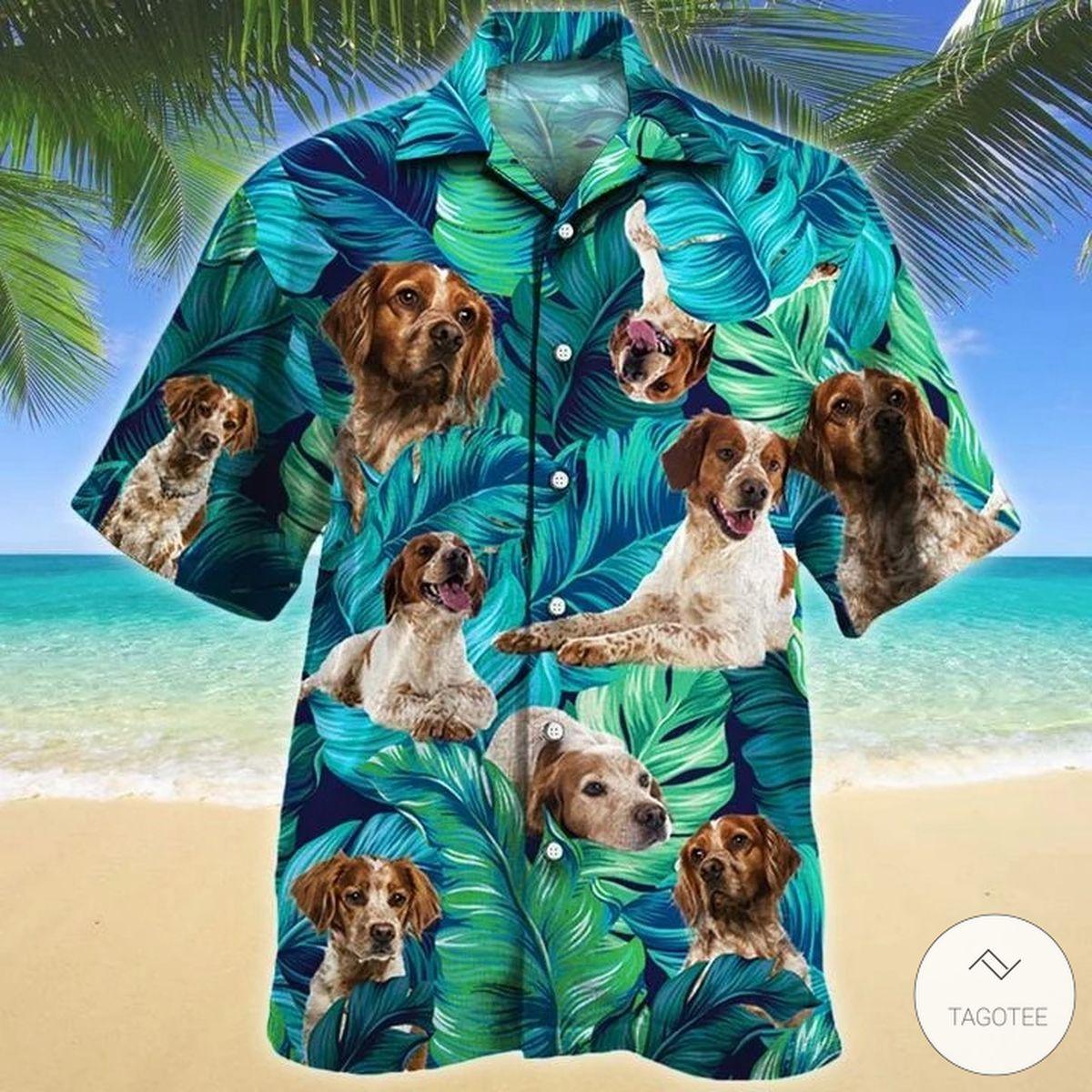 Brittany Dog Hawaiian Shirt