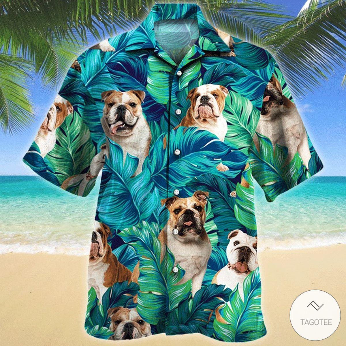 Bulldog Dog Hawaiian Shirt