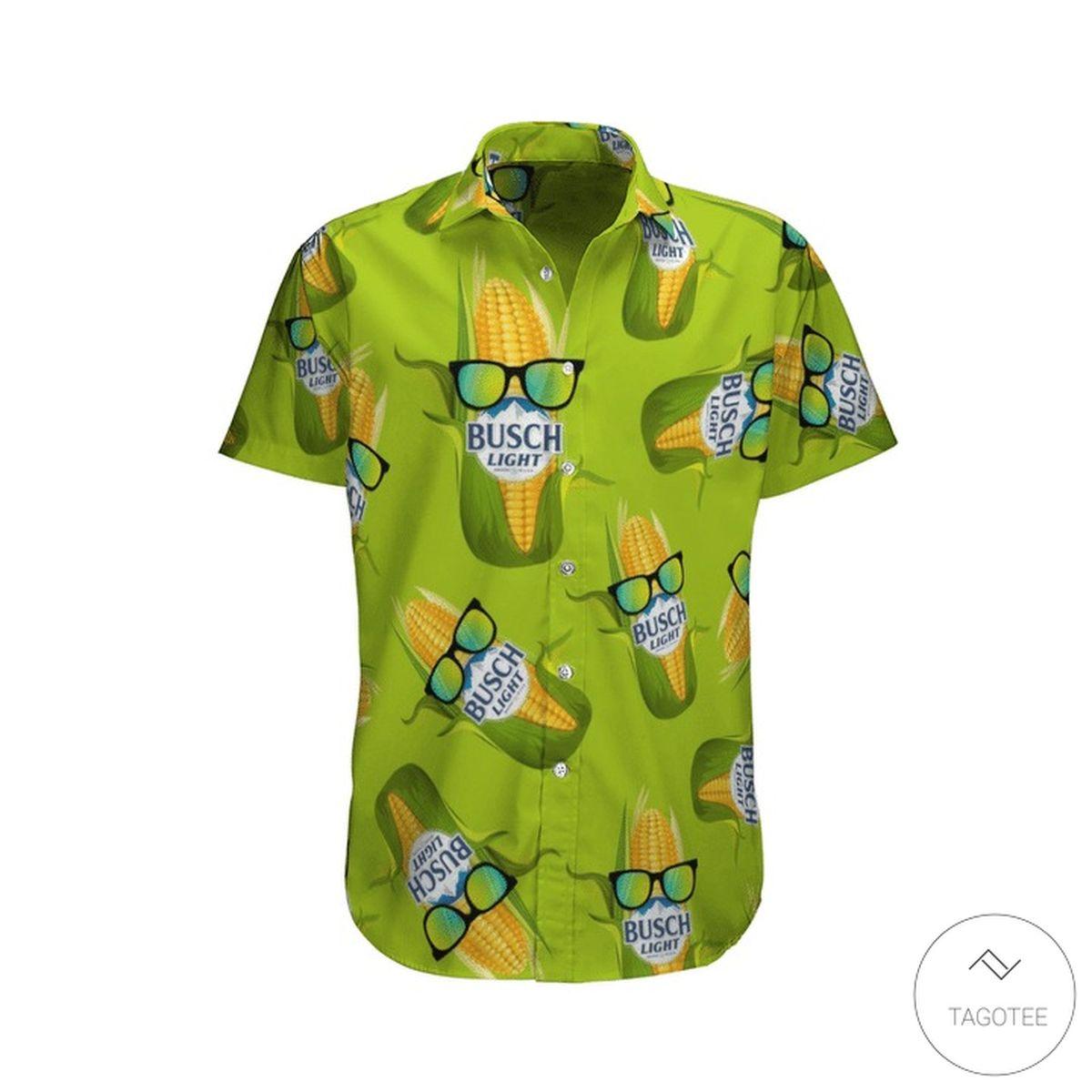 3D Busch Light Corn Hawaiian Shirt