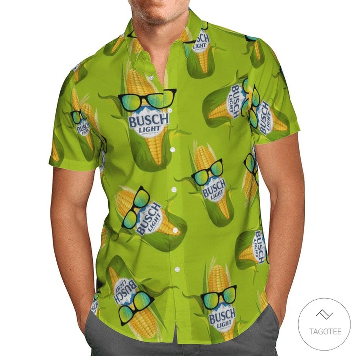 Best Busch Light Corn Hawaiian Shirt