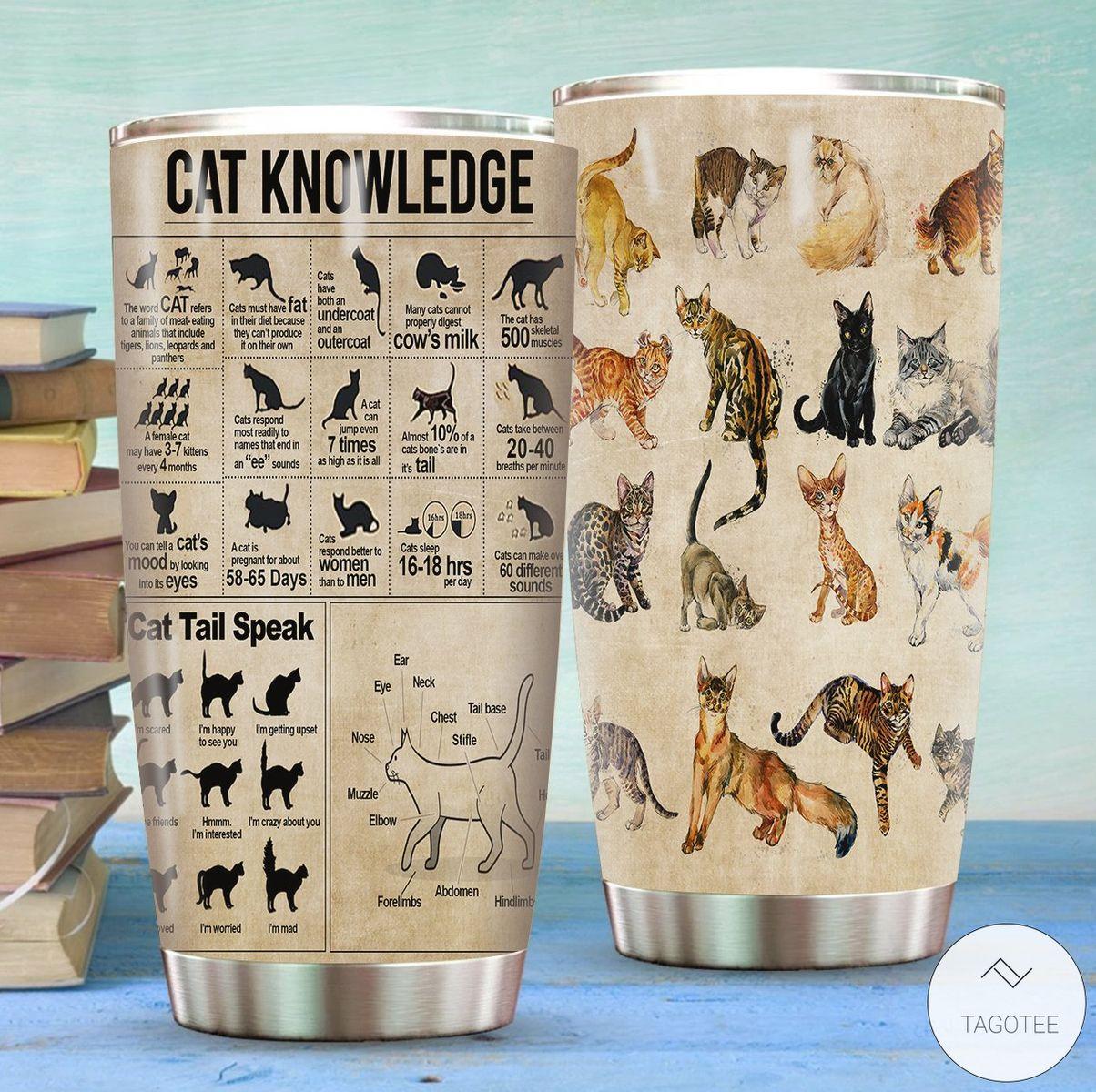 Cat Knowledge Tumbler