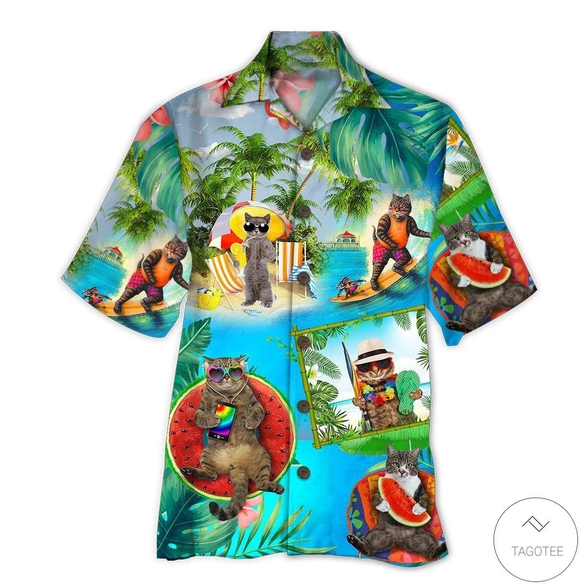 Cats And Beer Hawaiian Shirt
