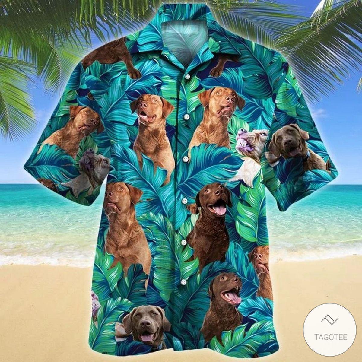 Chesapeake Bay Retriever Dog Hawaiian Shirt