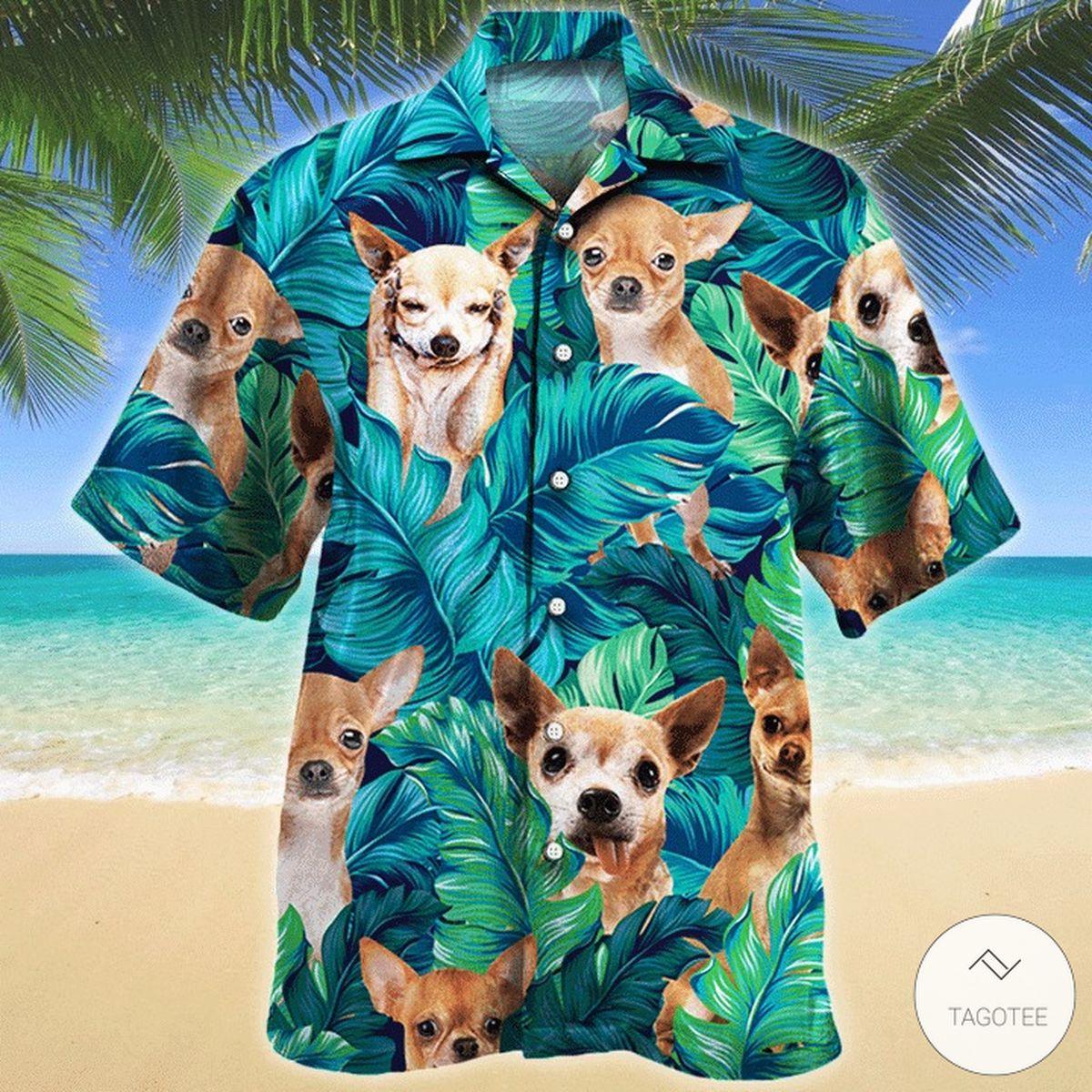 Chihuahua Dog Hawaiian Shirt