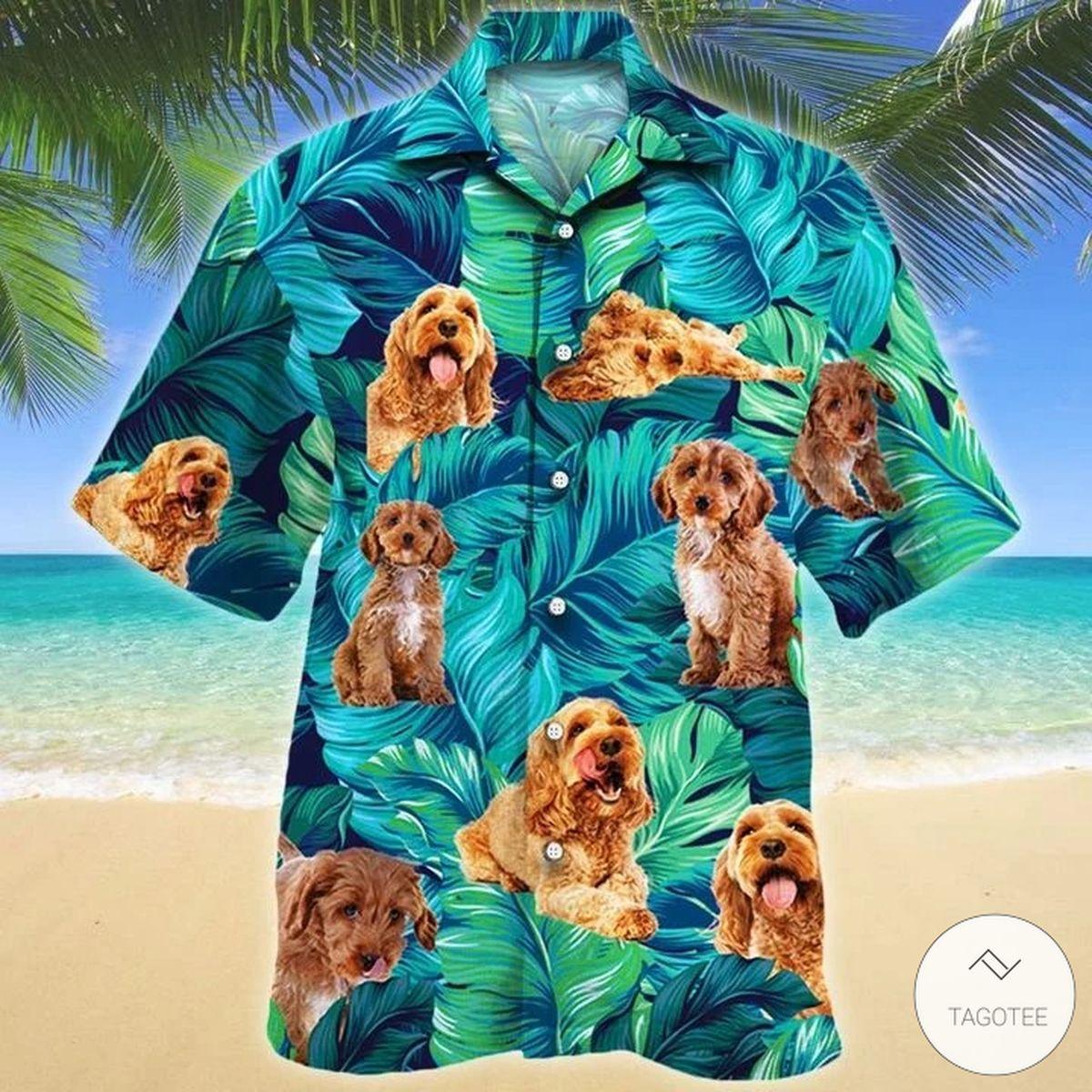 Cockapoo Dog Hawaiian Shirt