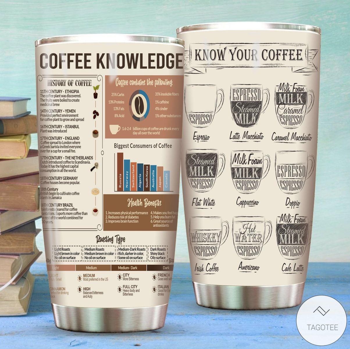 Coffee Knowledge Tumbler