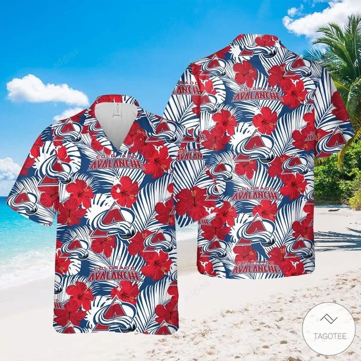 Colorado Avalanche Hawaiian Shirt, Beach Shorts