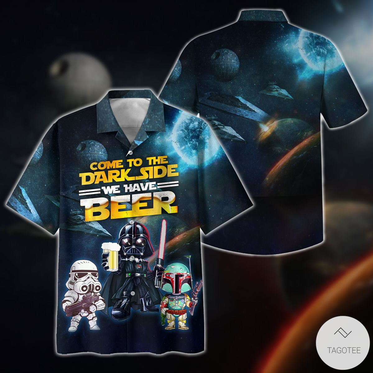Come To The Dark Side We have Beer Star Wars Hawaiian Shirt