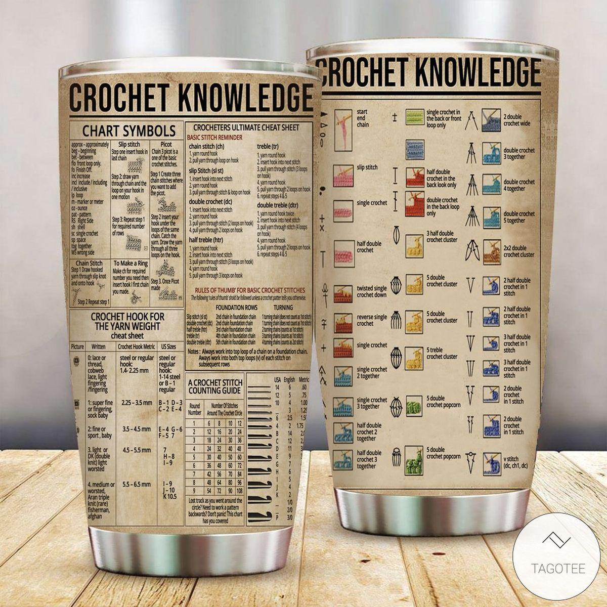 Crochet Knowledge Tumbler
