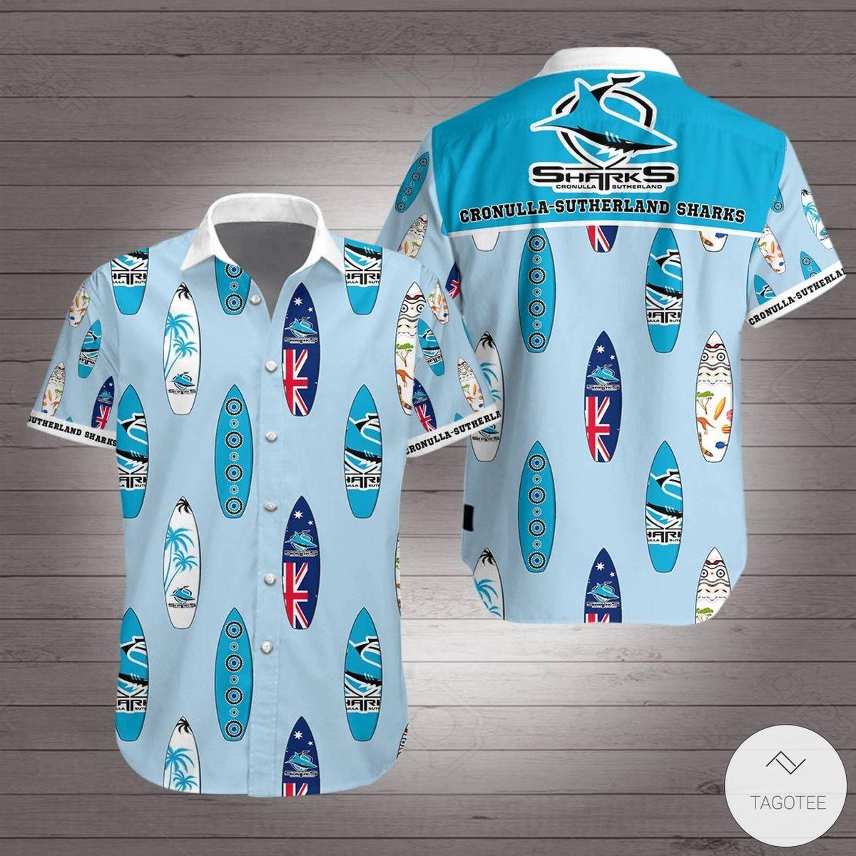 Cronulla-Sutherland Sharks Hawaiian Shirt