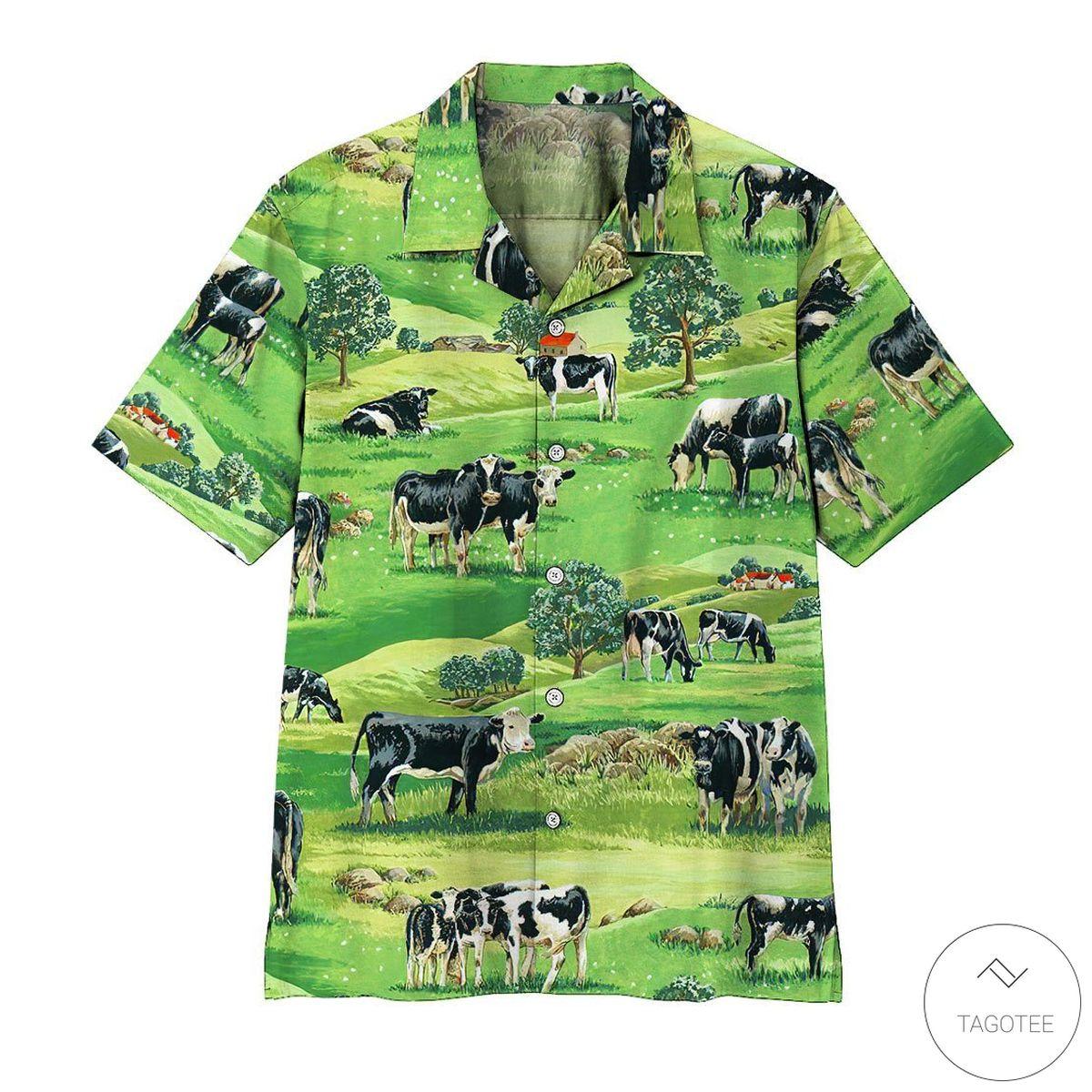 Dairy Cow Hawaiian Shirt, Beach Shorts