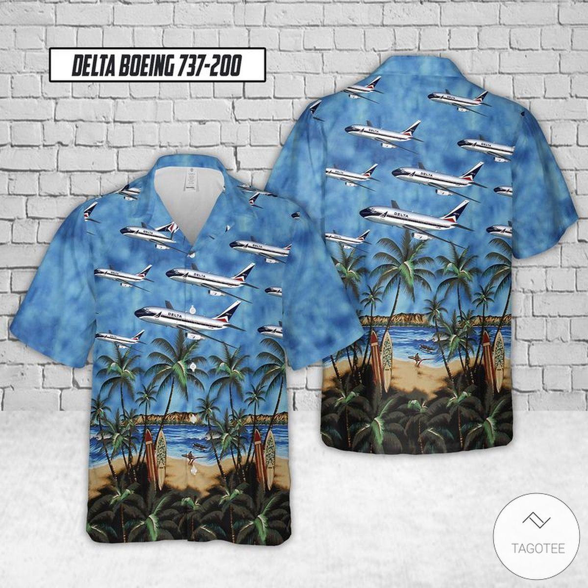 Delta Boeing 737-200 Hawaiian Shirt