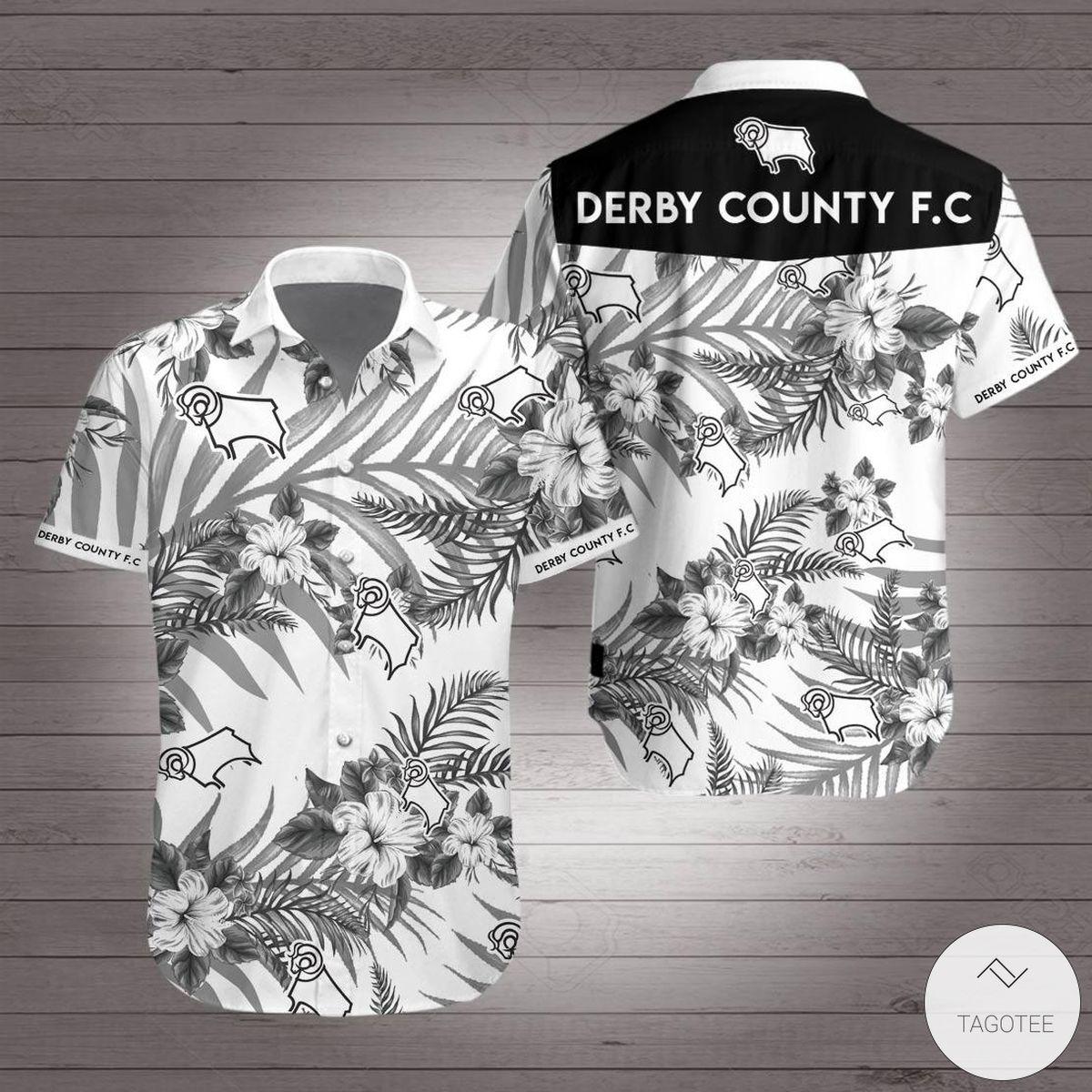Derby County Hawaiian Shirt