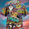 Dogs Hippie Peace Hawaiian Shirt