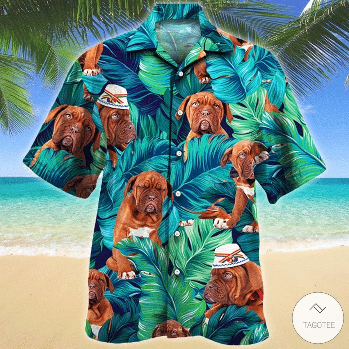Dogue Bordeaux Dog Hawaiian Shirt