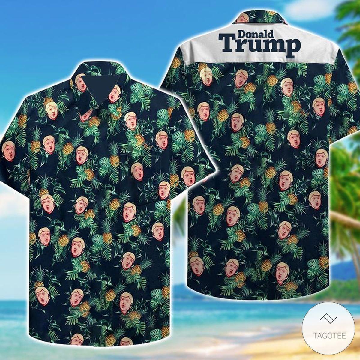 Father's Day Gift Donald Trump Hawaiian Shirt
