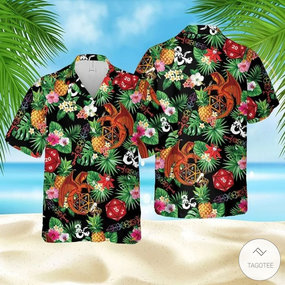 Dungeons & Dragons DnD Aloha Hawaiian Shirt
