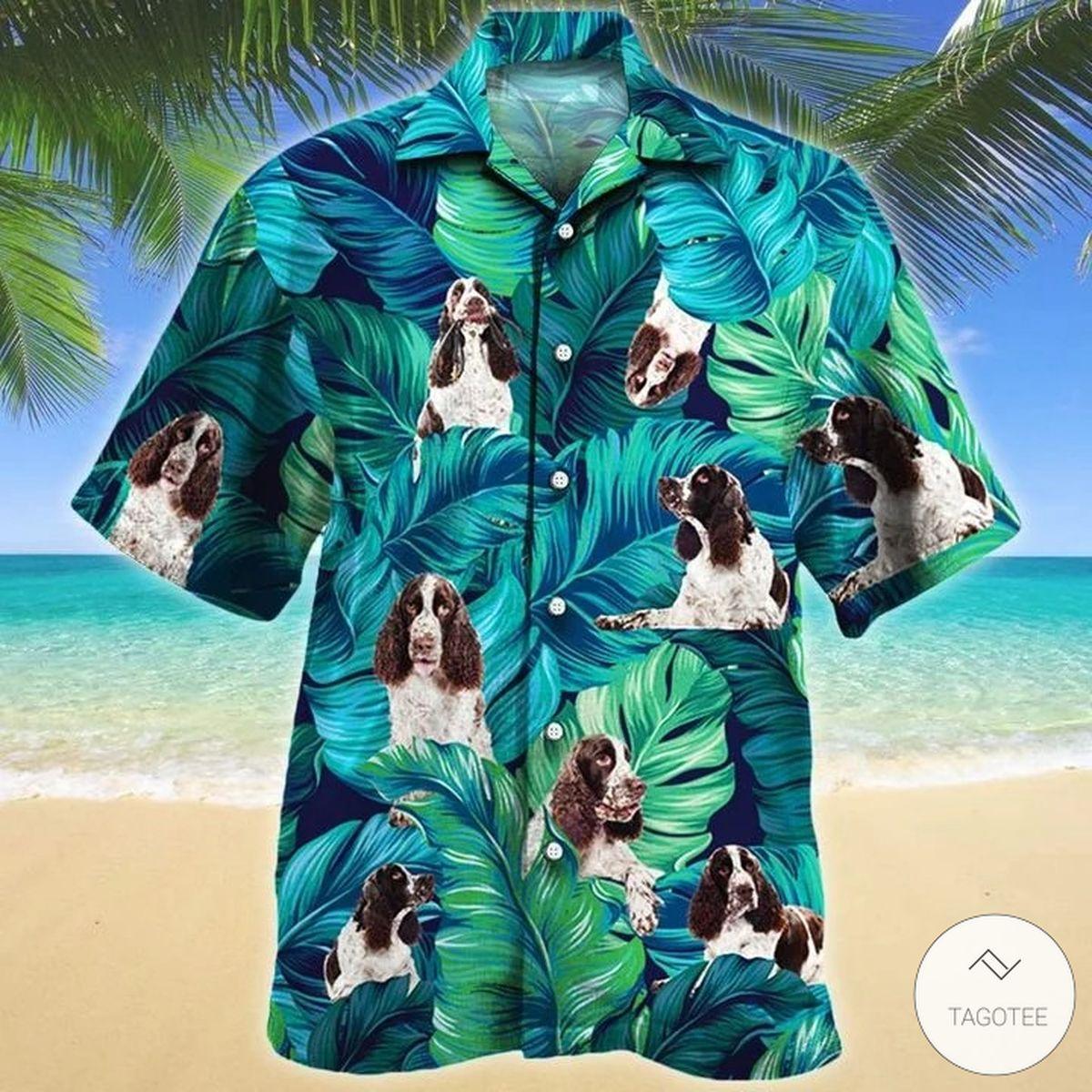 English Springer Spaniel Dog Hawaiian Shirt